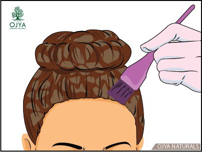 how to apply henna on hair step 10