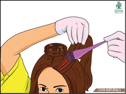 How to apply henna on hair step 8