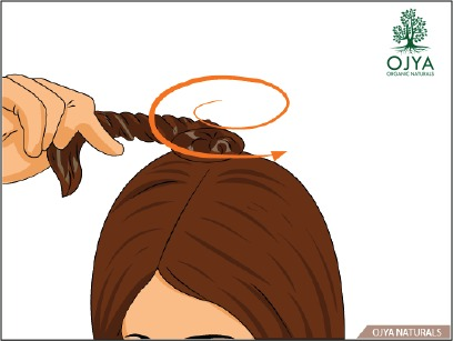 How to apply henna on hair step 9