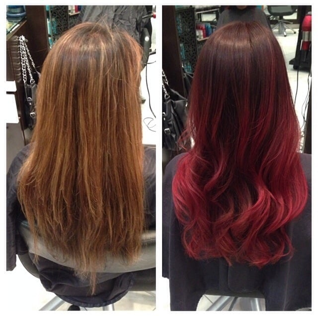 BURGUNDY NATURAL HAIR COLOR